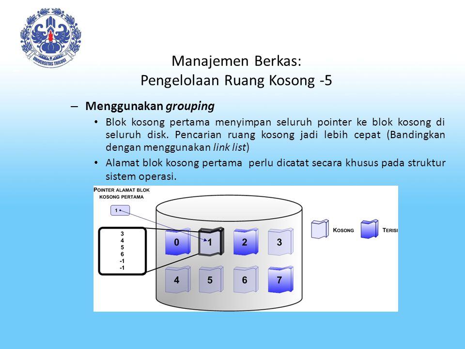 Manajemen Berkas: Pengelolaan Ruang Kosong -5
