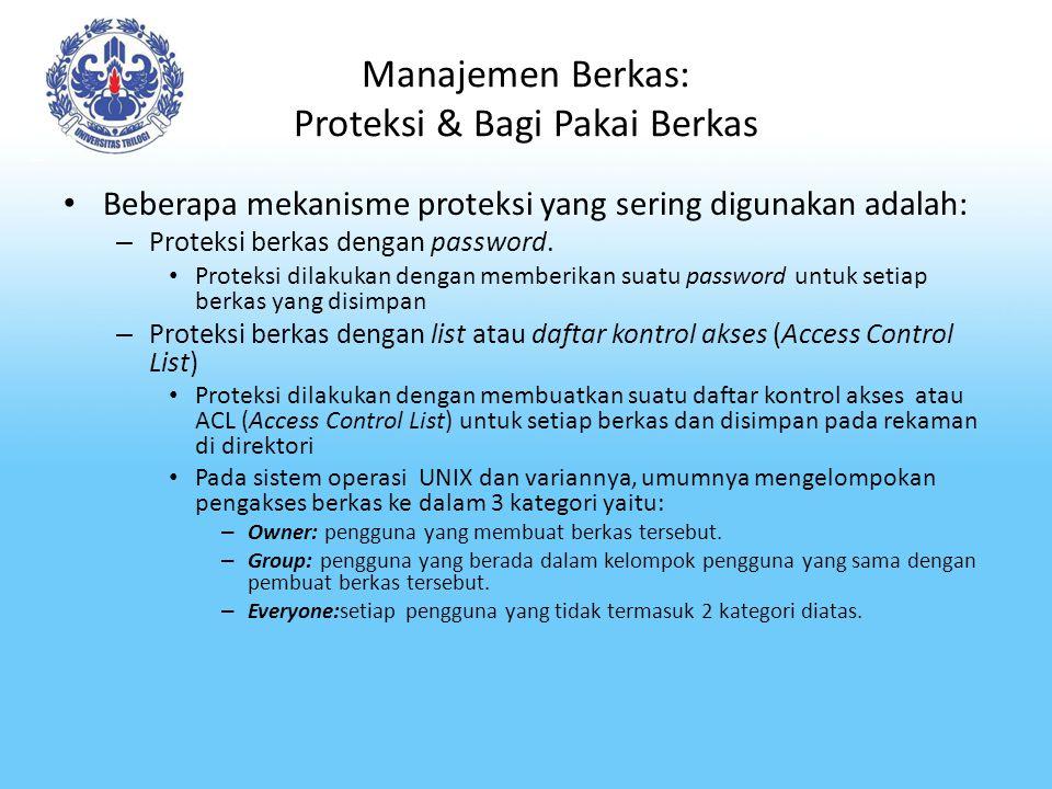Manajemen Berkas: Proteksi & Bagi Pakai Berkas