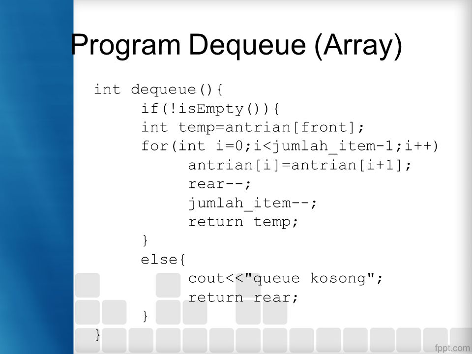 Program Dequeue (Array)