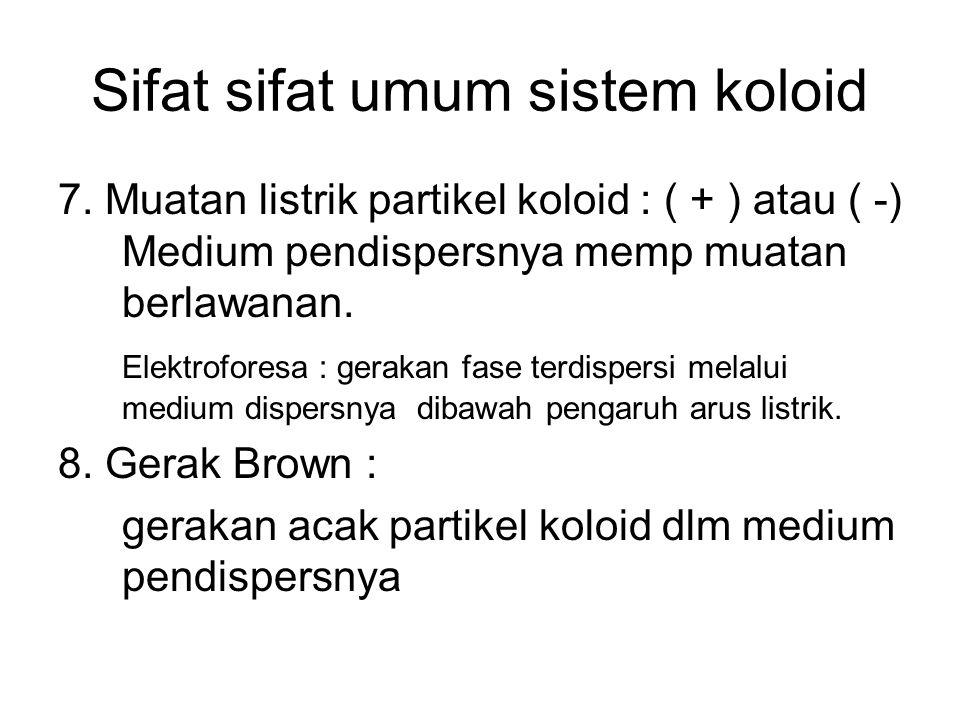 Sifat sifat umum sistem koloid