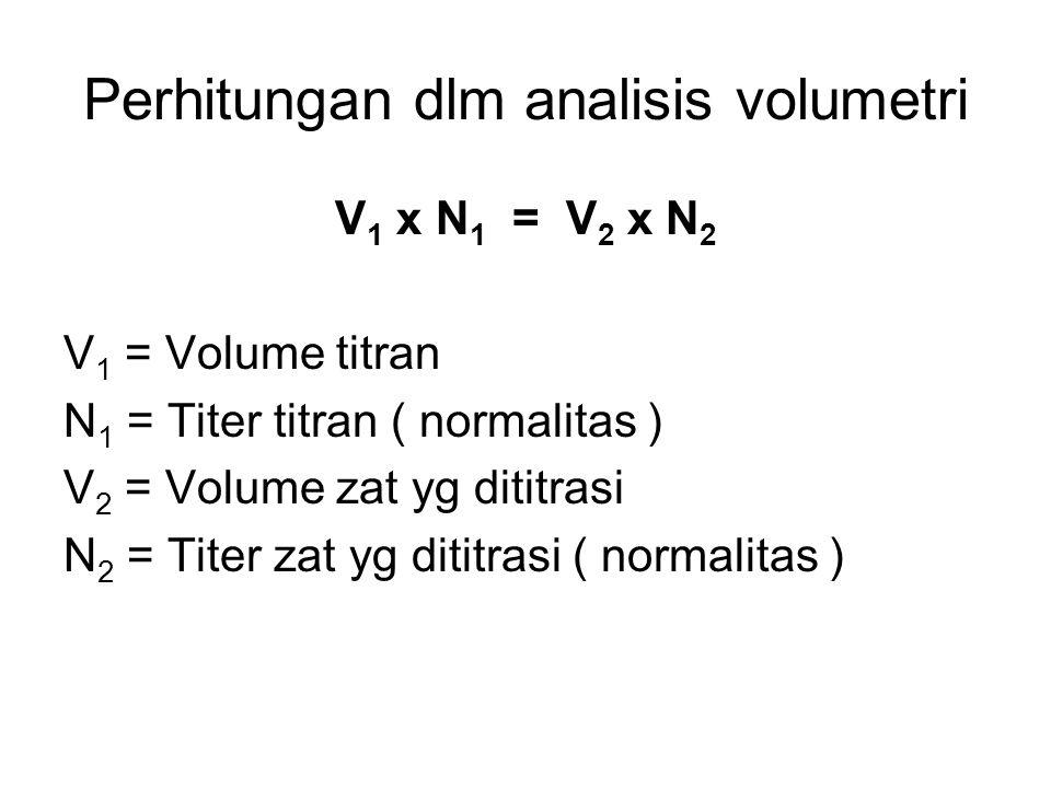 Perhitungan dlm analisis volumetri
