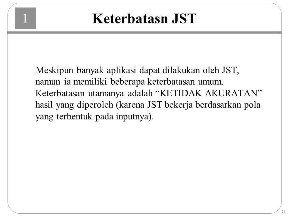 Keterbatasn JST