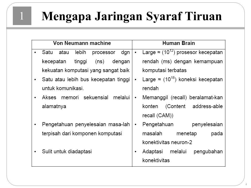 Mengapa Jaringan Syaraf Tiruan