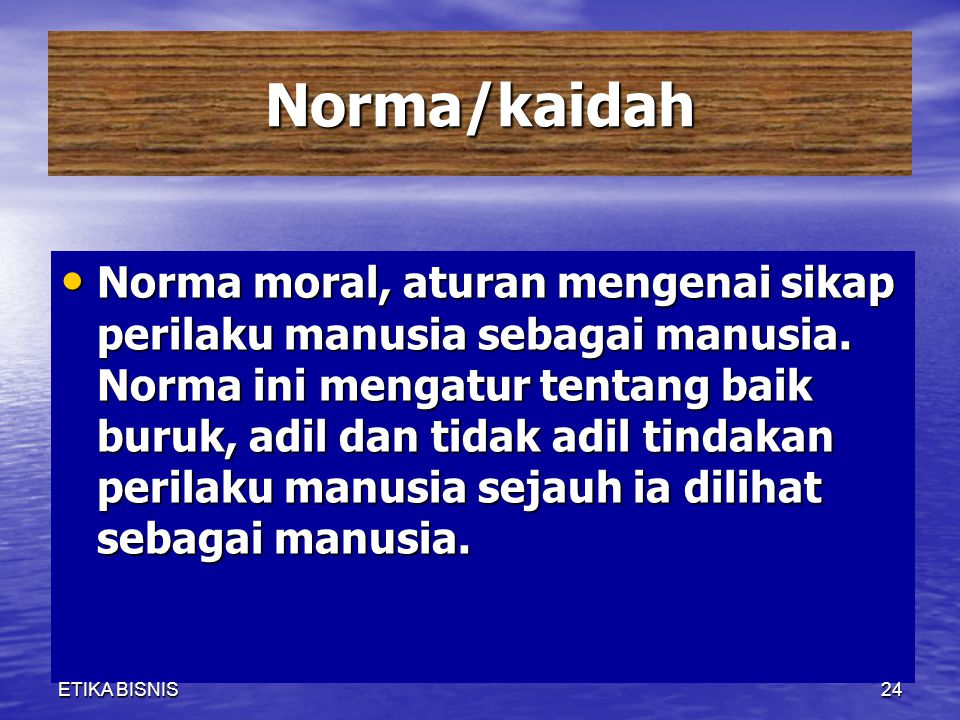 Norma/kaidah