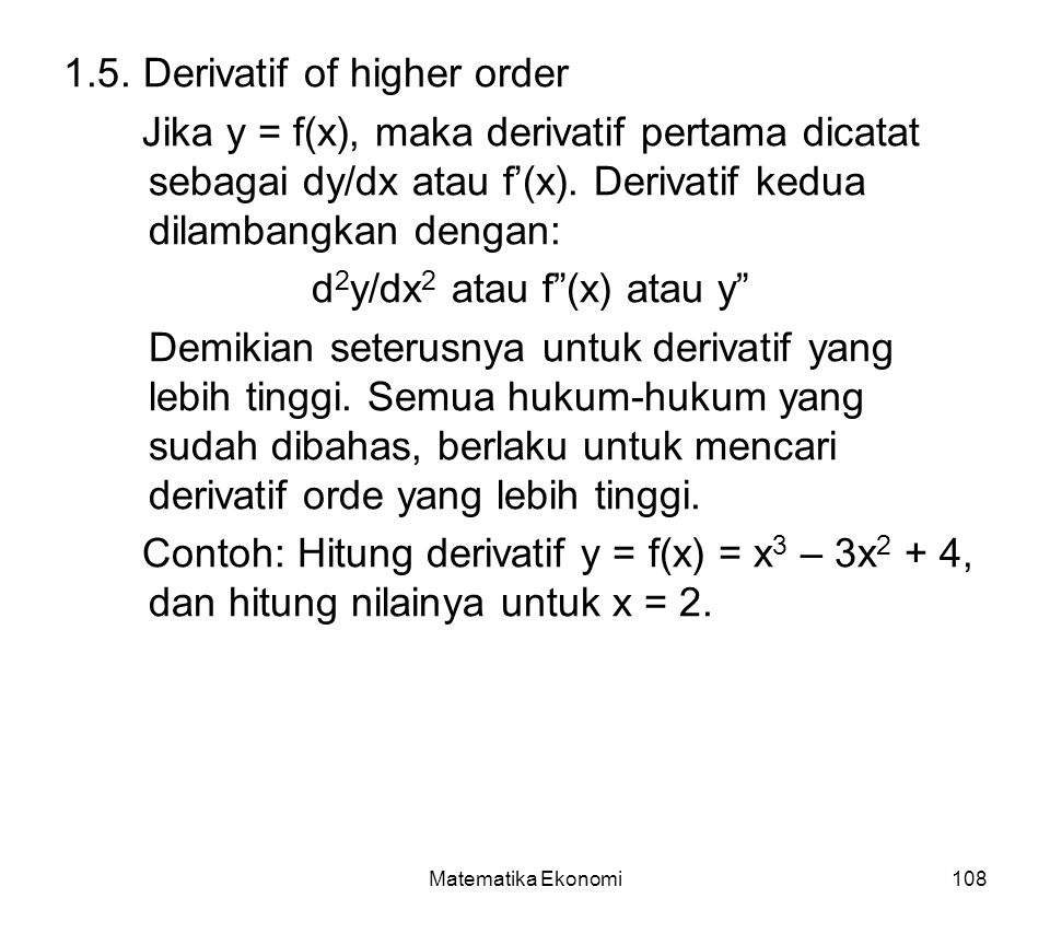 1.5. Derivatif of higher order