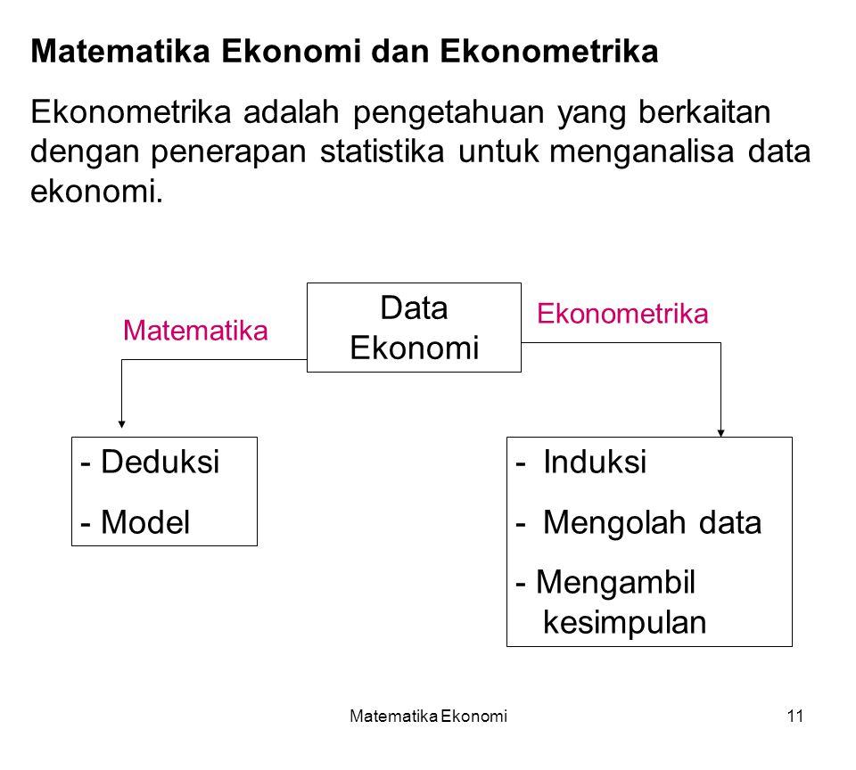 Matematika Ekonomi dan Ekonometrika