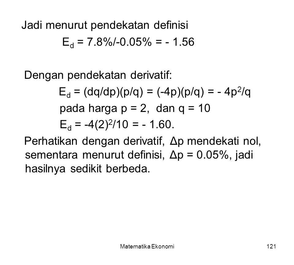 Jadi menurut pendekatan definisi