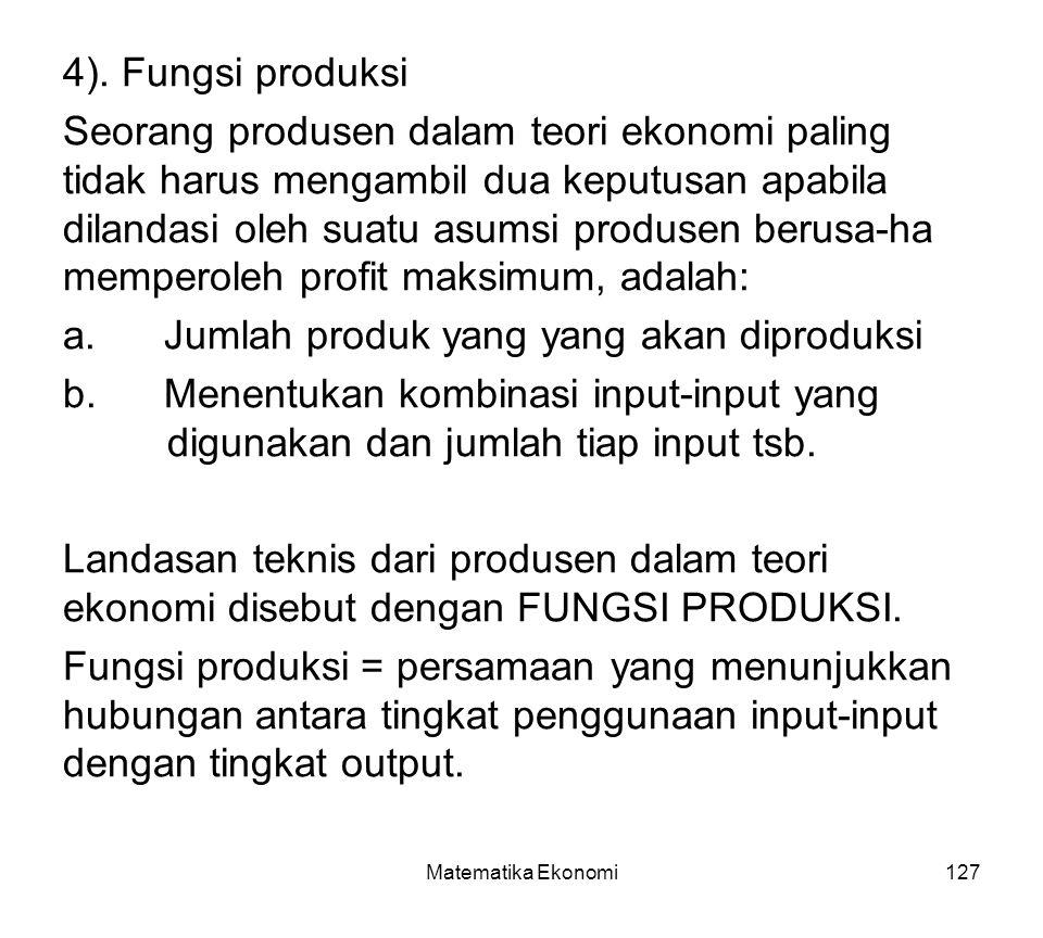 Jumlah produk yang yang akan diproduksi