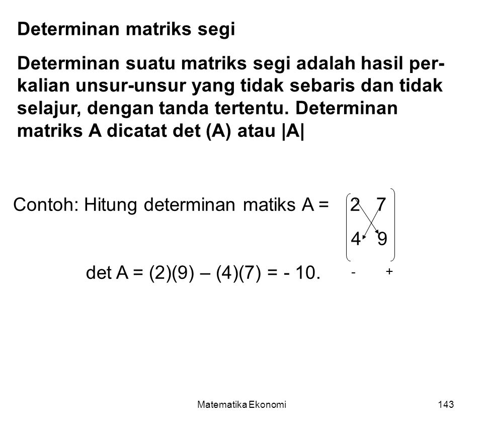Determinan matriks segi