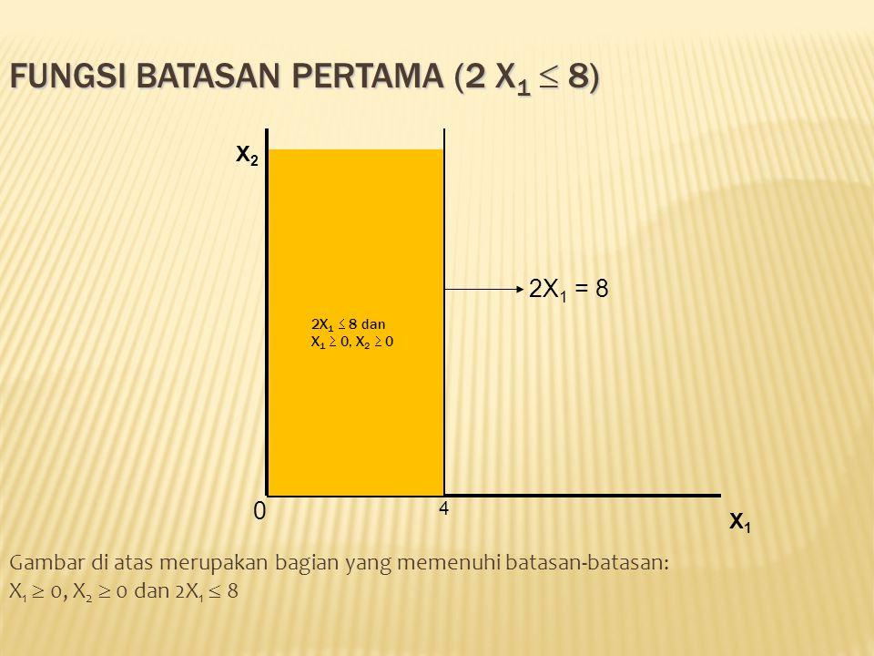 Fungsi batasan pertama (2 X1  8)