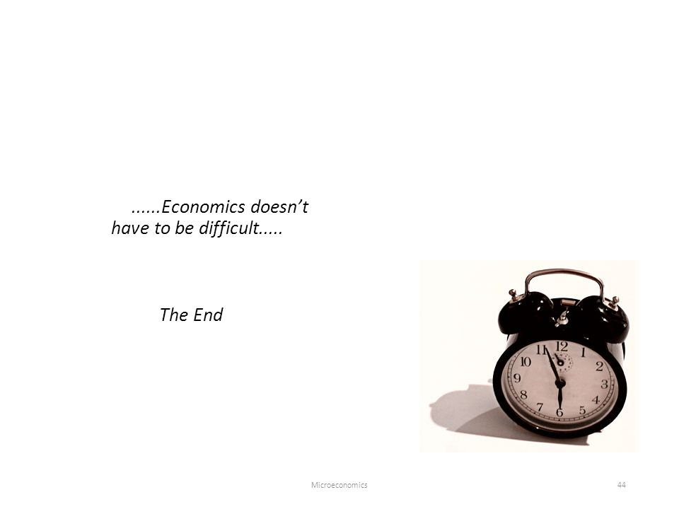 ......Economics doesn't have to be difficult..... The End