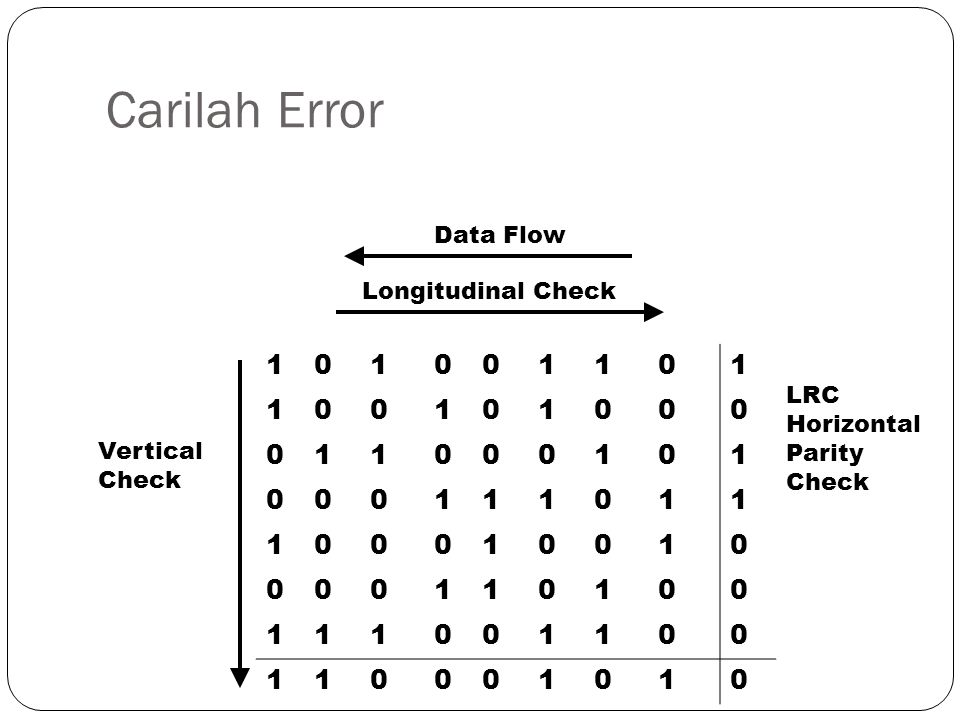 Carilah Error 1 Data Flow Longitudinal Check