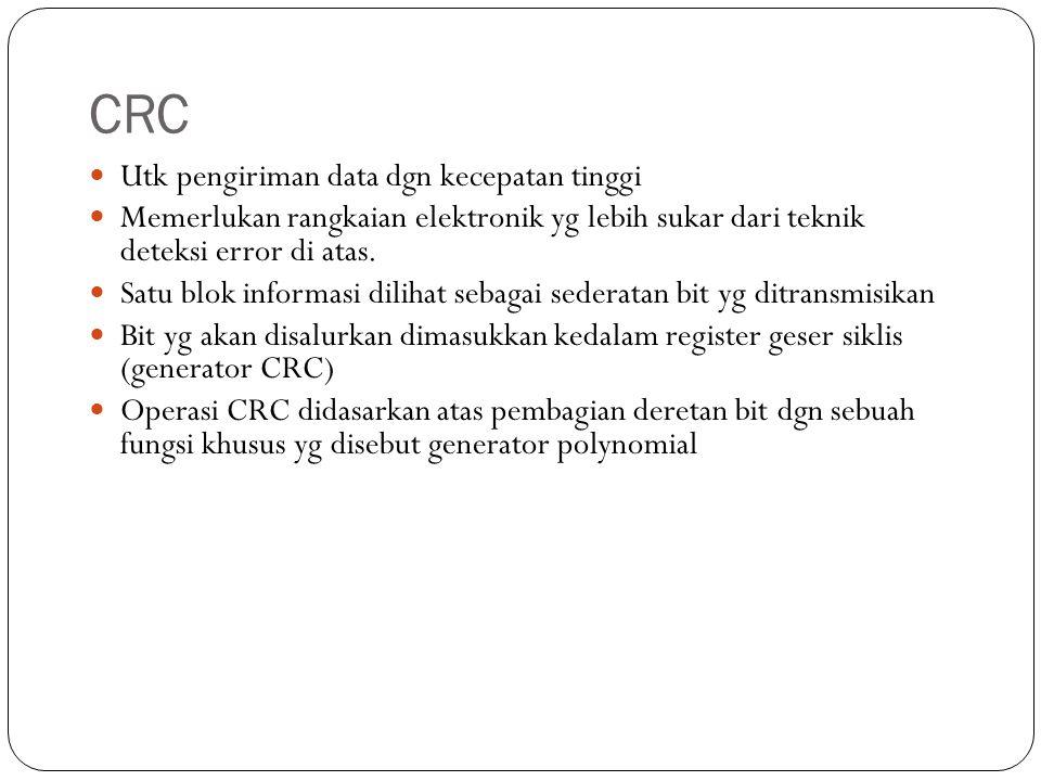 CRC Utk pengiriman data dgn kecepatan tinggi