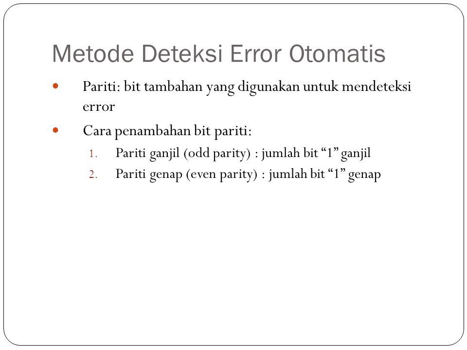 Metode Deteksi Error Otomatis