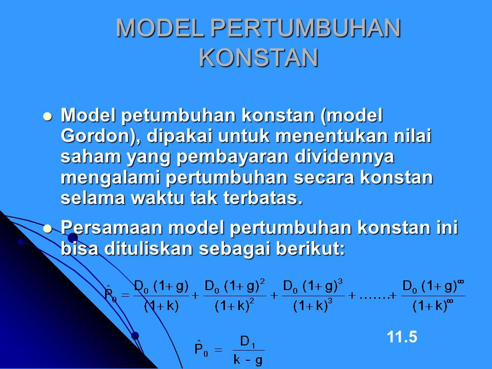 MODEL PERTUMBUHAN KONSTAN
