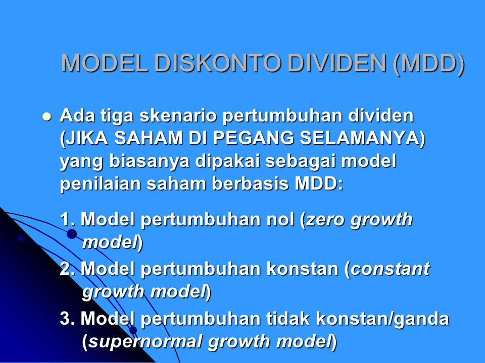 MODEL DISKONTO DIVIDEN (MDD)