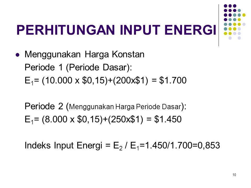 PERHITUNGAN INPUT ENERGI