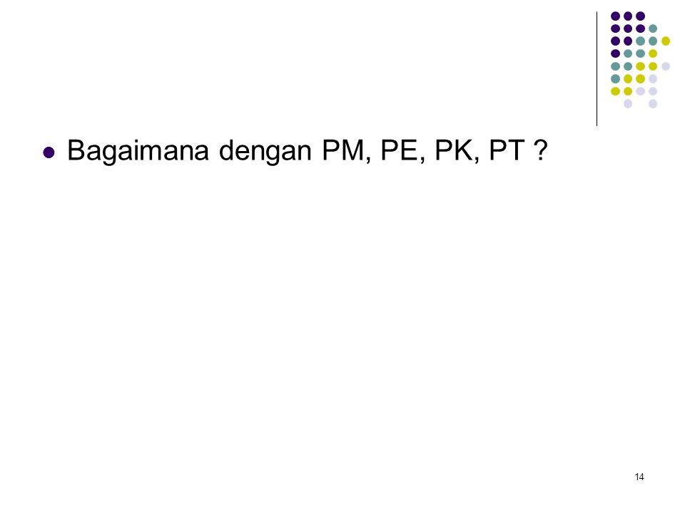 Bagaimana dengan PM, PE, PK, PT