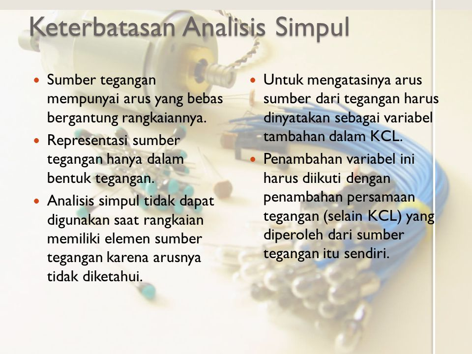 Keterbatasan Analisis Simpul