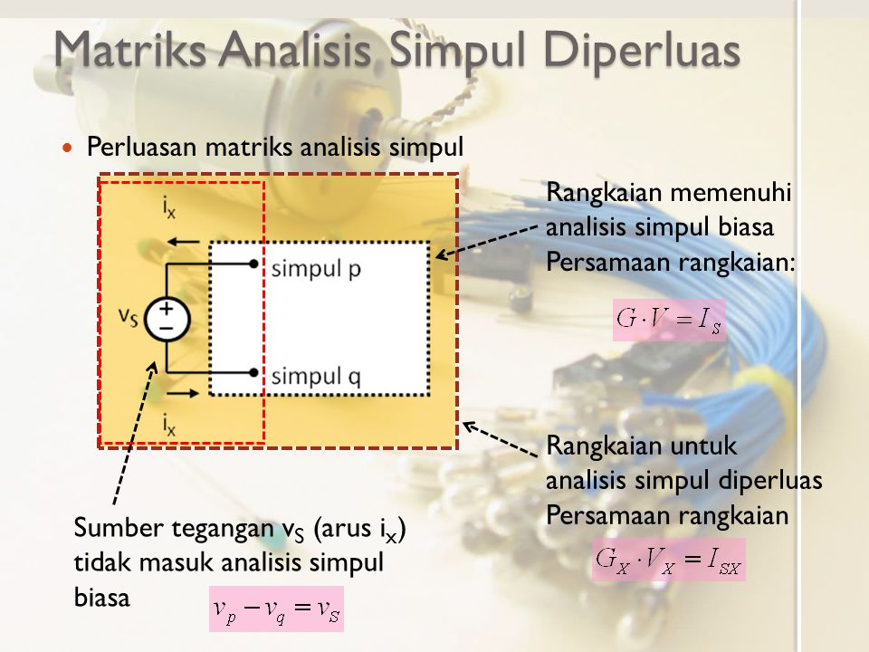 Matriks Analisis Simpul Diperluas