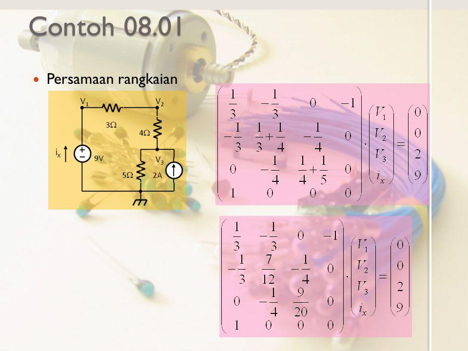 Contoh 08.01 Persamaan rangkaian