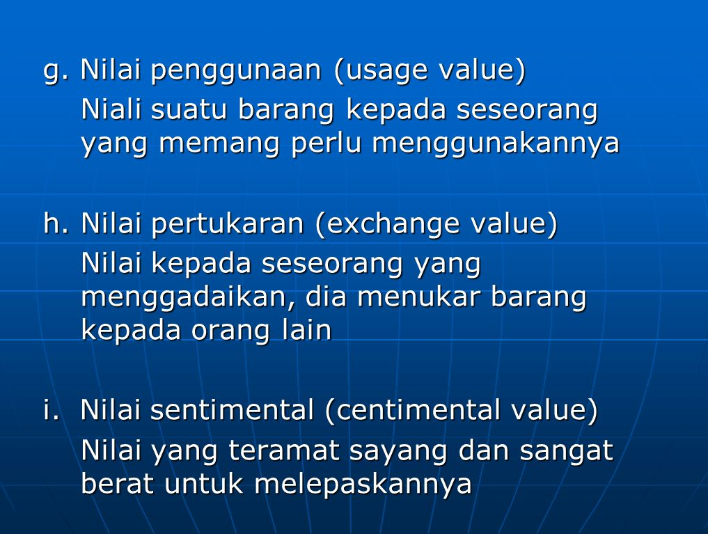 j. Nilai salvage (salvage value)