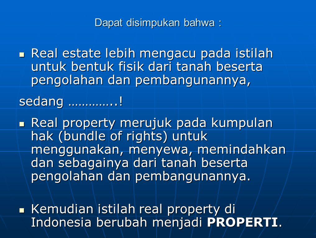 Personal property antara lain dapat berupa :