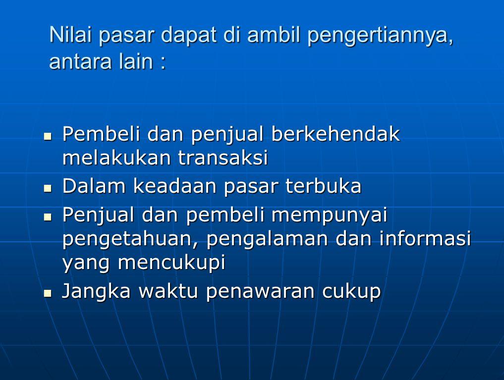 CIRI-CIRI NILAI Demand (permintaan) Analisis demand meliputi :