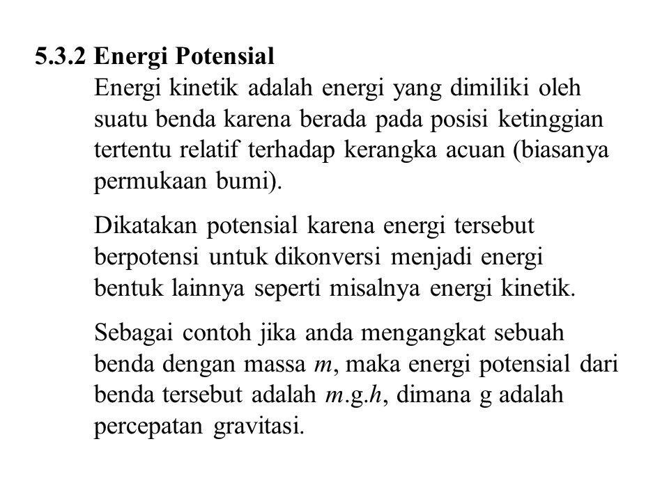 5.3.2 Energi Potensial