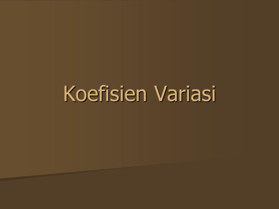 Koefisien Variasi