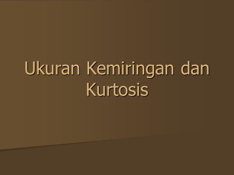 Ukuran Kemiringan dan Kurtosis