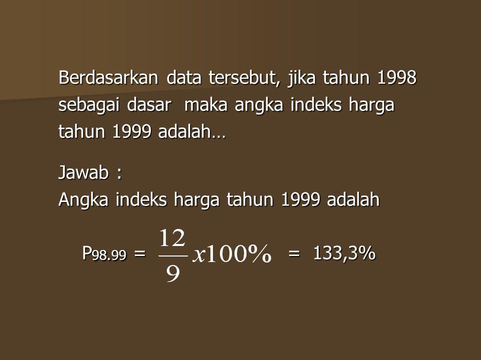 Berdasarkan data tersebut, jika tahun 1998