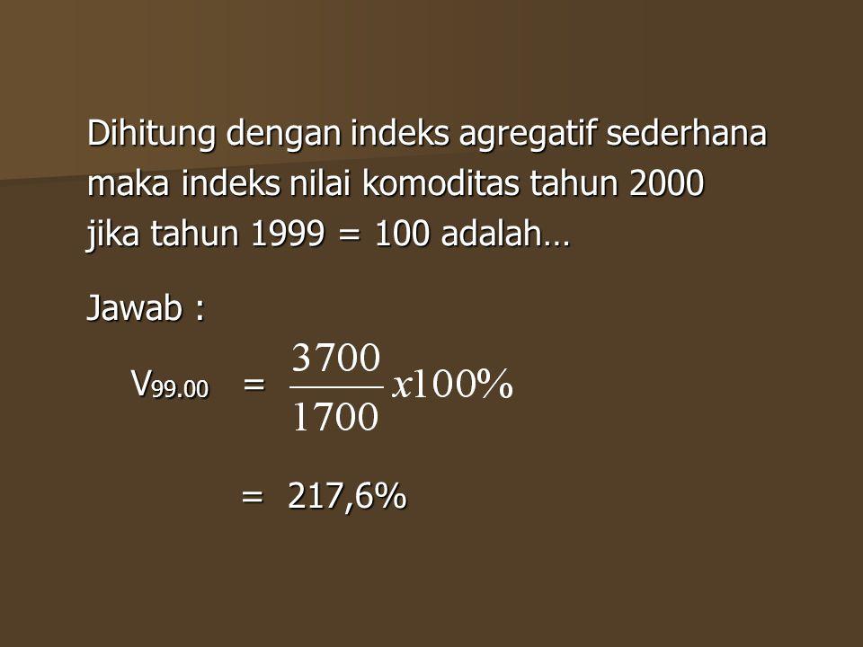 Dihitung dengan indeks agregatif sederhana