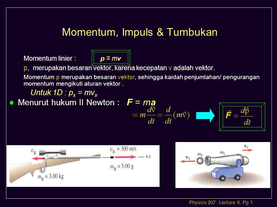Momentum, Impuls & Tumbukan