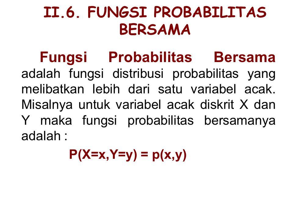 II.6. FUNGSI PROBABILITAS BERSAMA