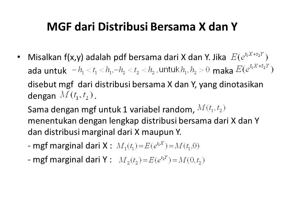 MGF dari Distribusi Bersama X dan Y