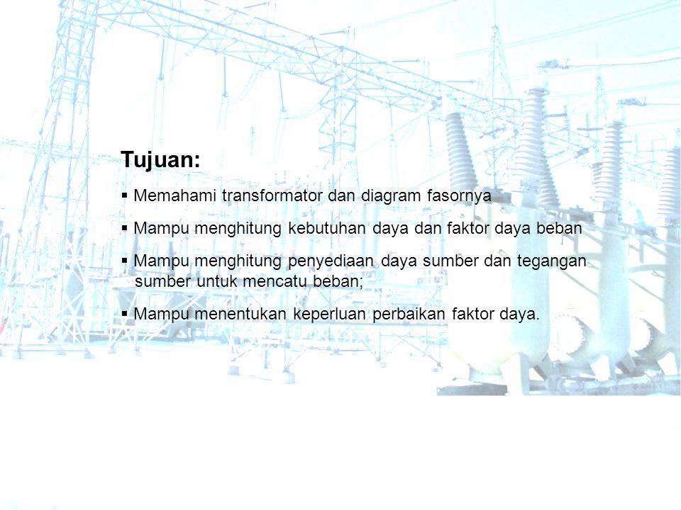 Tujuan: Memahami transformator dan diagram fasornya