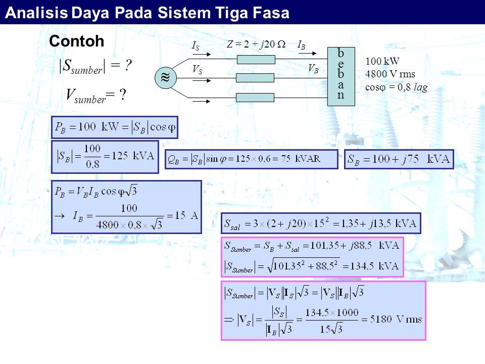 Analisis Daya Pada Sistem Tiga Fasa