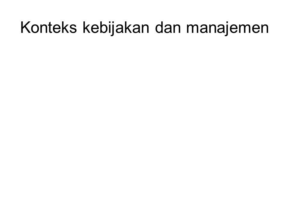 Konteks kebijakan dan manajemen