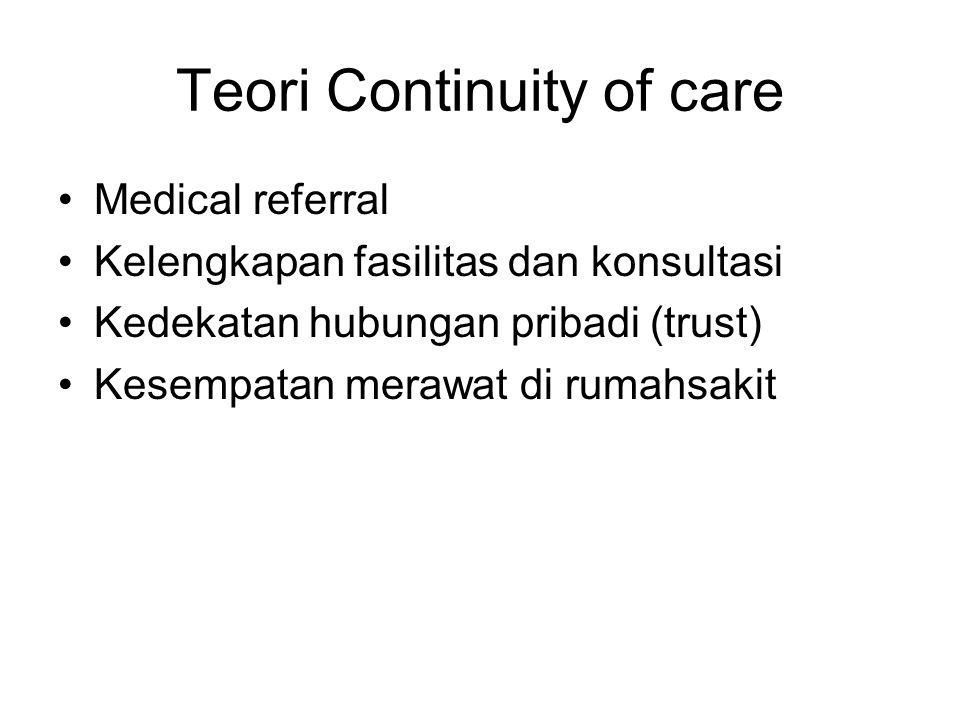 Teori Continuity of care