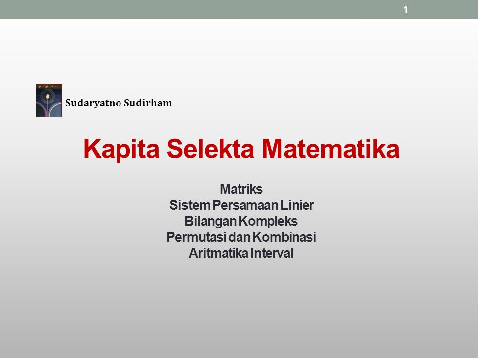 Kapita Selekta Matematika
