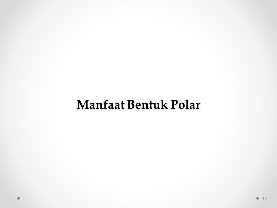 Manfaat Bentuk Polar