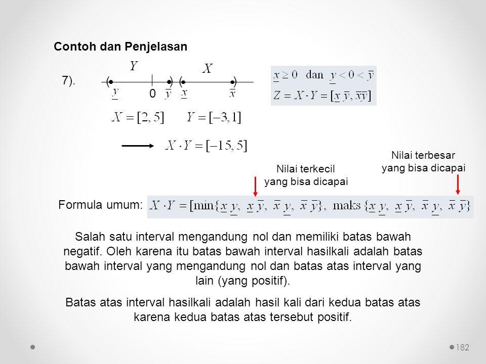 Y X Contoh dan Penjelasan 7). ( ) Formula umum: