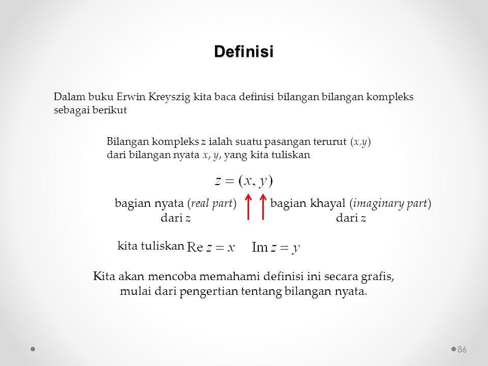 Definisi bagian nyata (real part) dari z