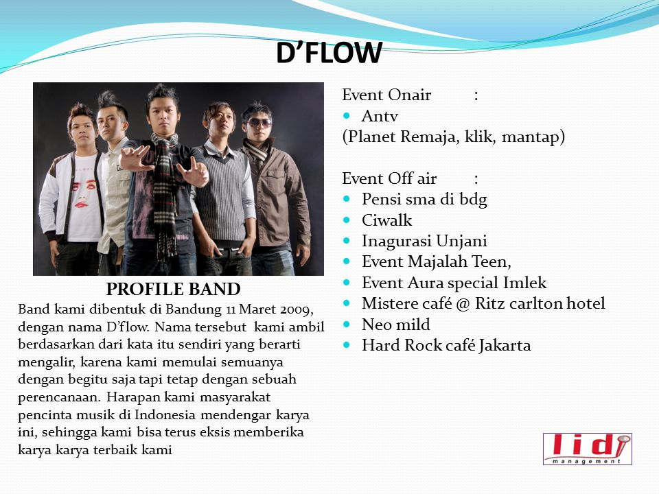 D'FLOW PROFILE BAND Event Onair : Antv (Planet Remaja, klik, mantap)