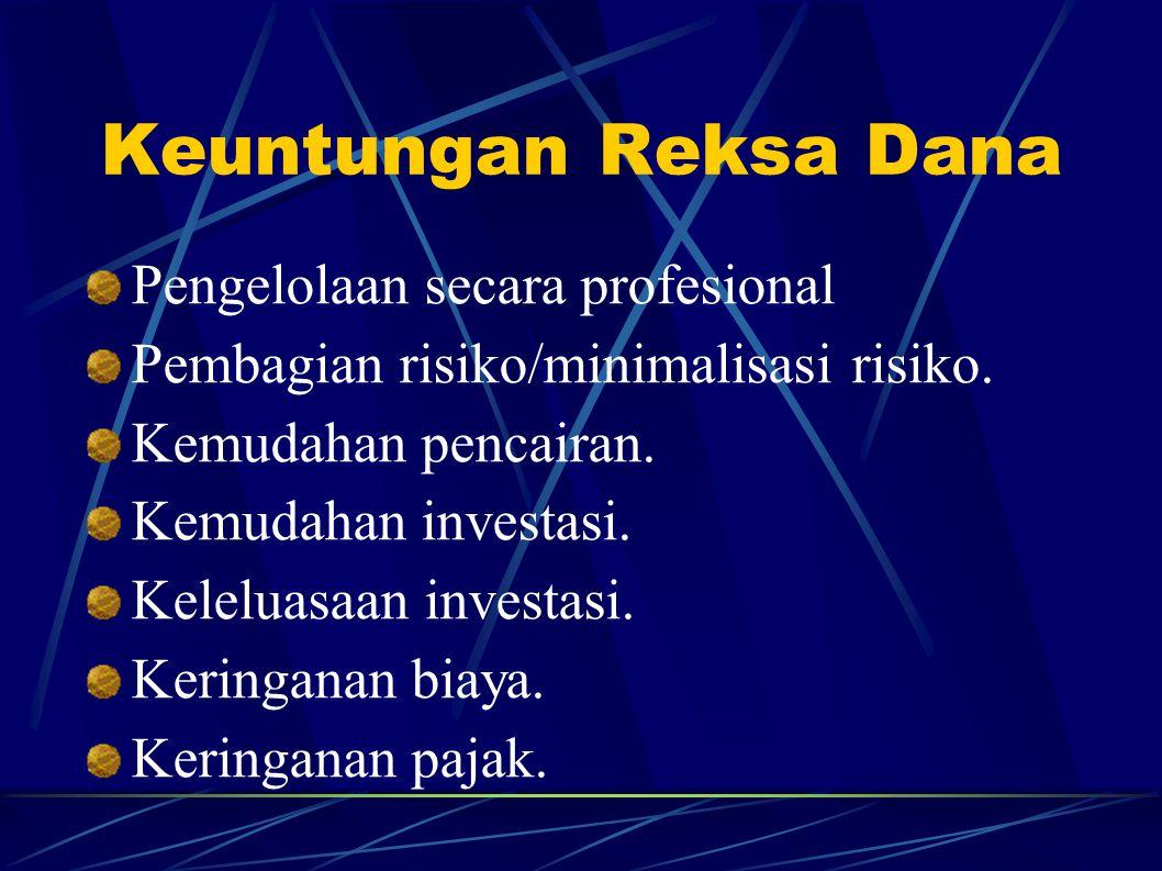Keuntungan Reksa Dana Pengelolaan secara profesional