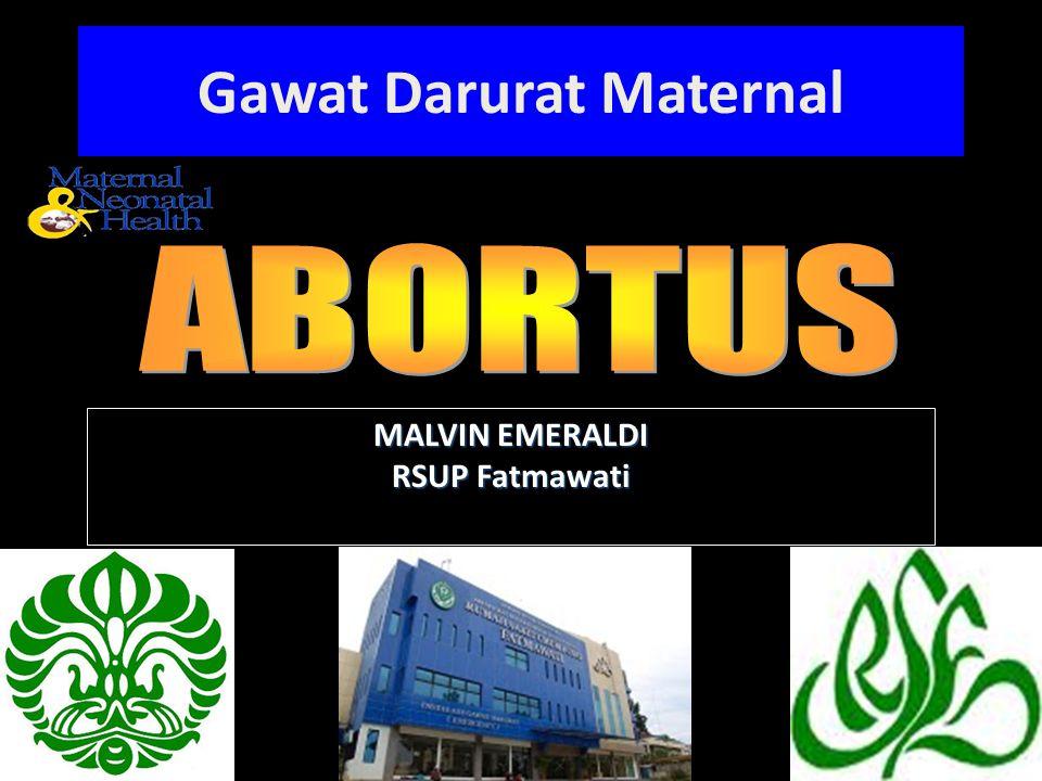 Gawat Darurat Maternal
