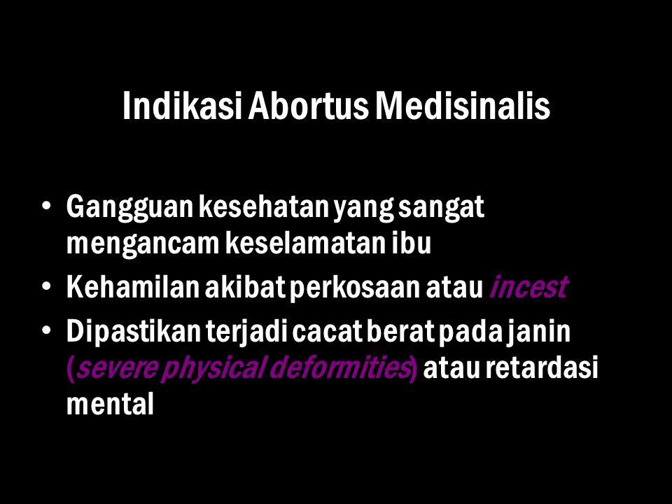Indikasi Abortus Medisinalis
