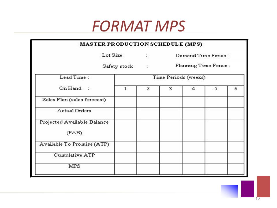 FORMAT MPS