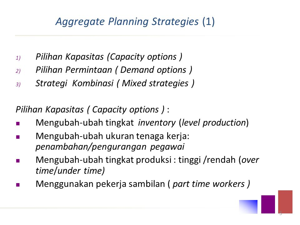 Aggregate Planning Strategies (1)